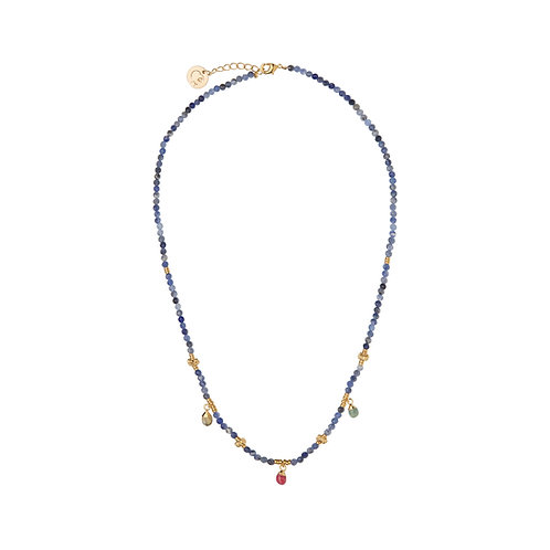 Collier Amulettes Sodalite