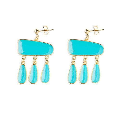 Boucles d'oreilles Antigua turquoise