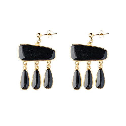 Boucles d'oreilles Antigua noir