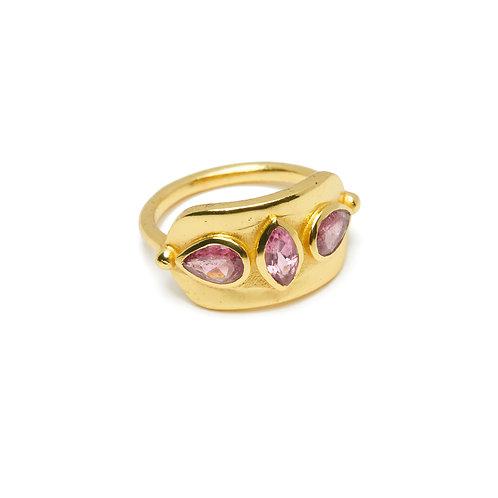 Bague Amulette Tourmaline rose
