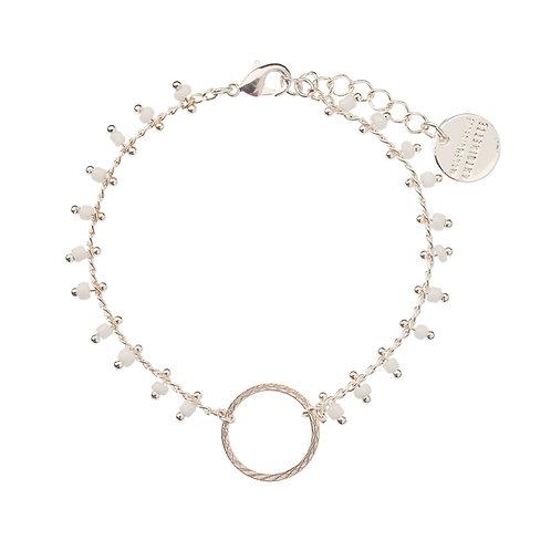 Bracelet CACHEMIRE blanc et argenté