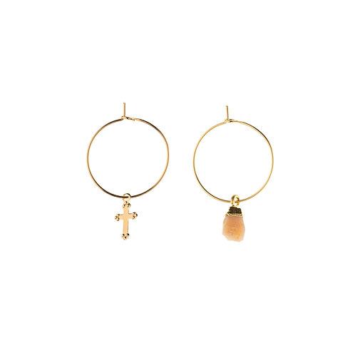 Boucles d'oreilles Stone opale