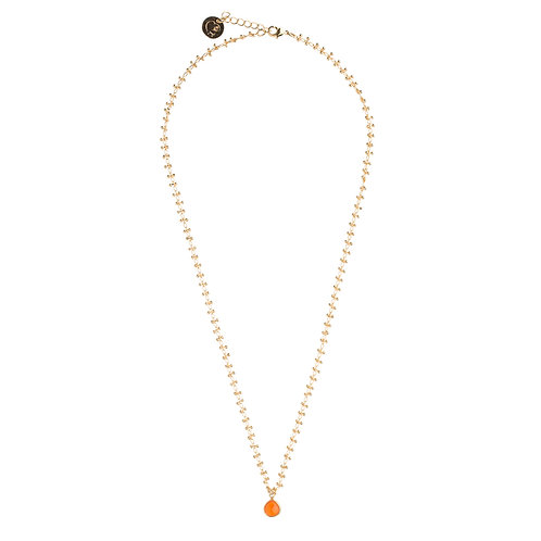 Collier Holi orange