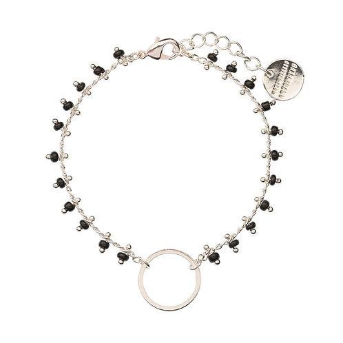 Bracelet CACHEMIRE noir et argenté