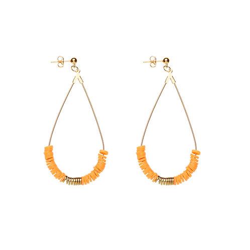 Boucles d'oreilles Surf - Orange
