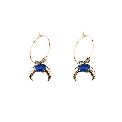 Boucles d'oreilles Ranch bleu marine