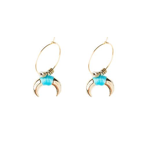 Boucles d'oreilles Ranch bleu turquoise