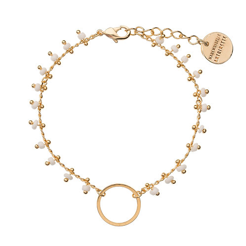 Bracelet CACHEMIRE blanc et doré