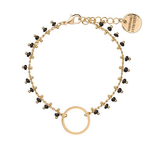 Bracelet CACHEMIRE noir et doré