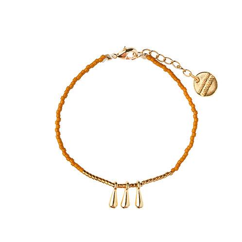 Bracelet Drop ocre