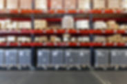 Étagères d'entrepôt