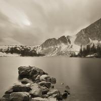 Mark James, Medicine Bow Peak from Lake Marie, 2017