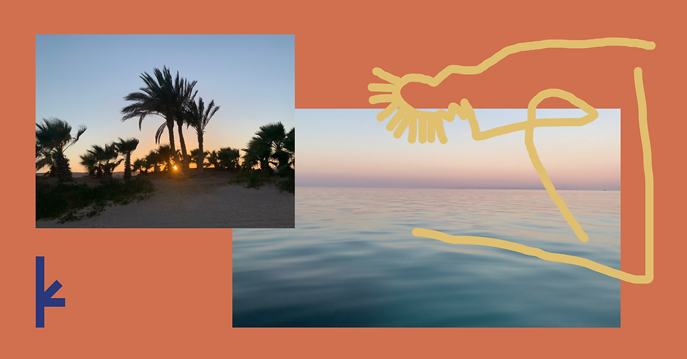 A retreat in Egypt in the landscape of the sea and the desert by Olivia Köhler, founder of Kailo Nature Therapy