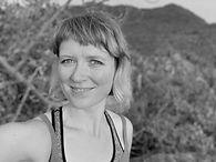 A headshot of Adelheid Rehmann who is guiding this outdoors event as a yoga teacher