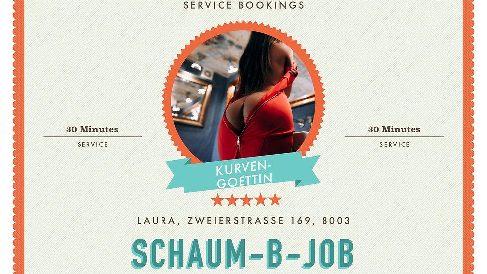 Schaum Blow-Job
