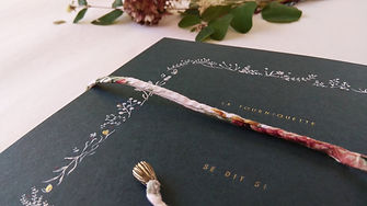 livre d'or mariage reliure personnalisée artisan relieur atelier de reliure amélie guédon cholet nantes