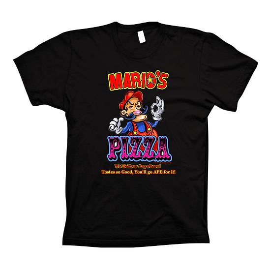 Mario's Pizza Black (Tee)