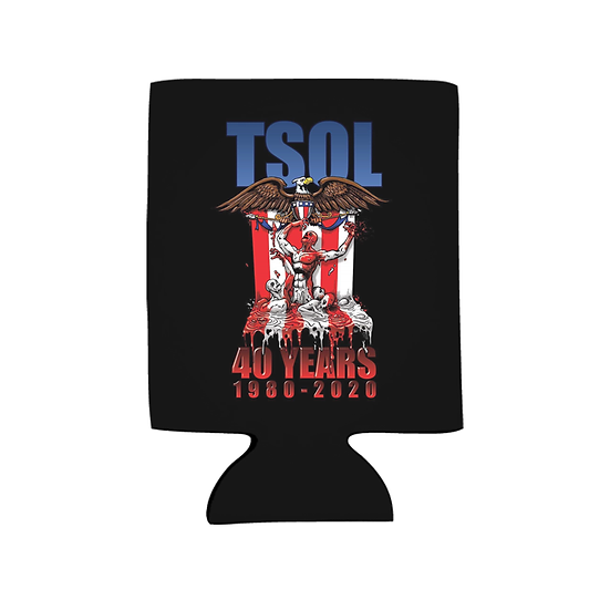 """TSOL """"1980-2020"""" Koozie & Sticker Combo"""