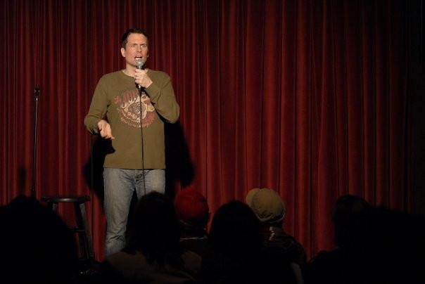 Me doing a comedy show