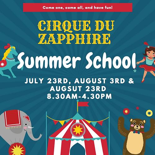 Cirque Du Zapphire Summer School Deposit