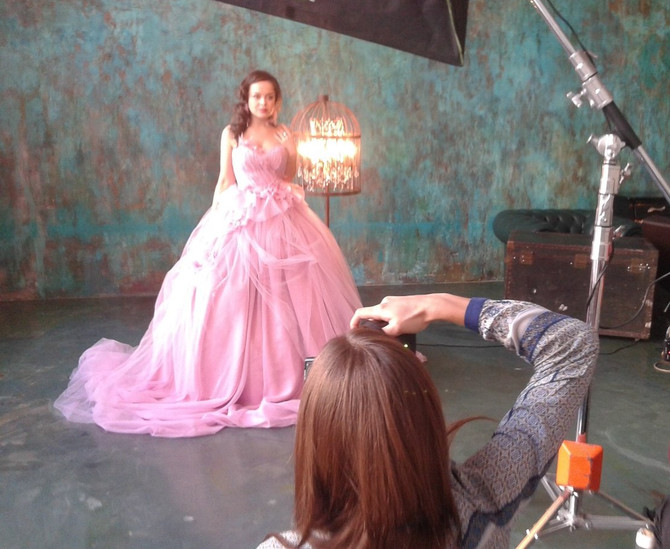 Снимала Наталью Медведеву из Comedy Woman для обложки свадебного журнала