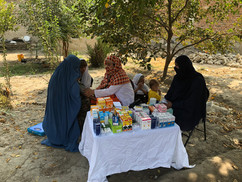 Our medically trained staff treating Afghan women in rural parts of Afghanistan.
