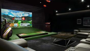simulador golf vision premium golfzon
