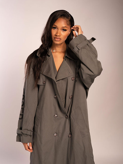 """SBG-HSI Oversized trench coat """"No Weapons"""""""