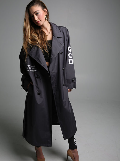 "copy of SBG-HSI Oversized ""TRUST GOD"" trench coat"