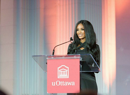 An Honor to receive the Young Alumna Award for my Alma mater, the University of Ottawa