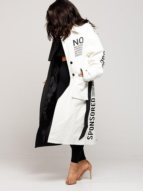 SBG -HSII Oversized two-tone trench coat