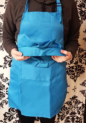 Blue Kids Apron and Chef Hat