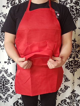 Red  Kids Apron and Chef Hat