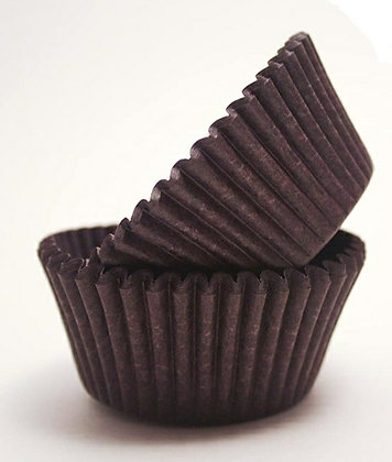 12 Brown Baking Cups
