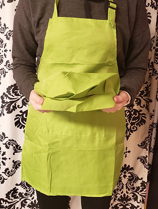 Lime Green Kids Apron and Chef Hat