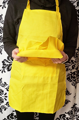 Yellow Kids Apron and Chef Hat
