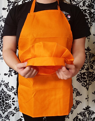 Orange Kids Apron and Chef Hat