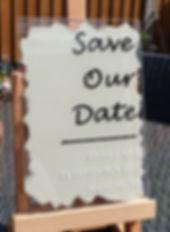 Acrylic Save the Date | Shikamo Design
