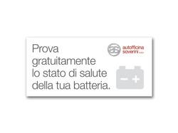 Cartello per espositore batterie
