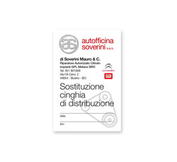 cartellino adesivo distribuzione