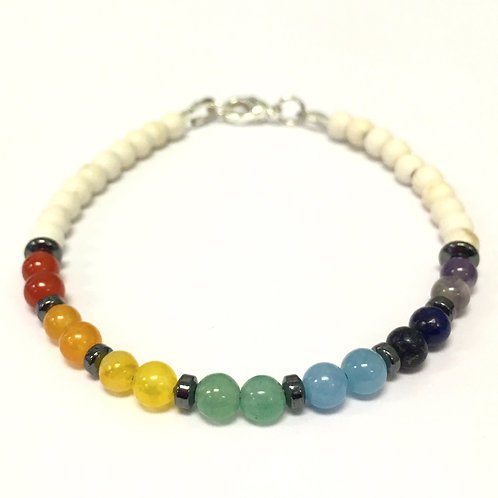 Calming/Healing Chakra Bracelet with Clasp