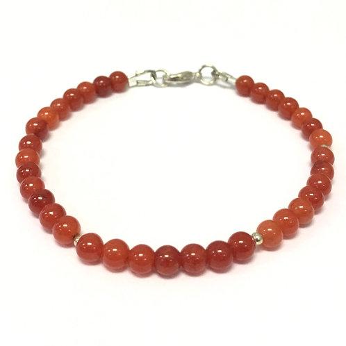 Solid Color Chakra Bracelet ~ Silver