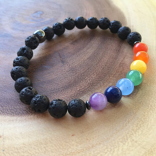 Aromatherapy Healing Chakra Bracelet