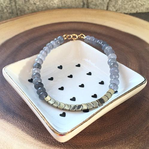 Hematite and Agate Healing Bracelet