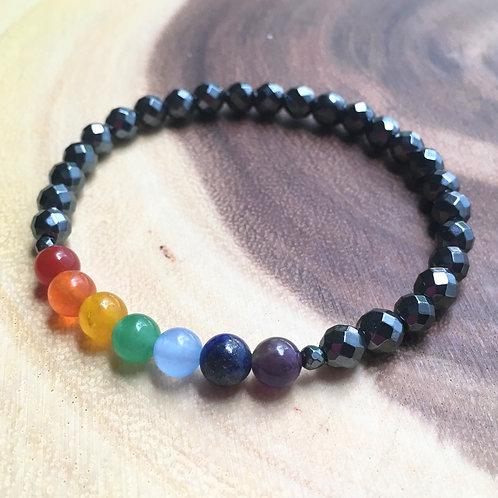 Hematite Healing Chakra Bracelet
