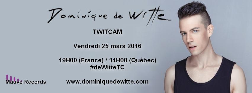 Dominique de Witte - TWITCAM - Vendredi 25 mars 2016