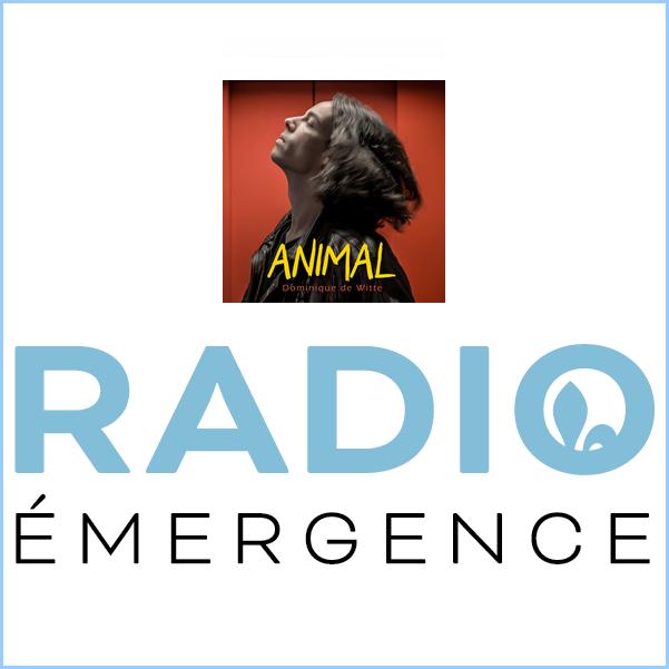 Dominique de Witte - RADIO EMERGENCE - 3e album ANIMAL - PODCAST - 6 novembre 2019 - Quebec