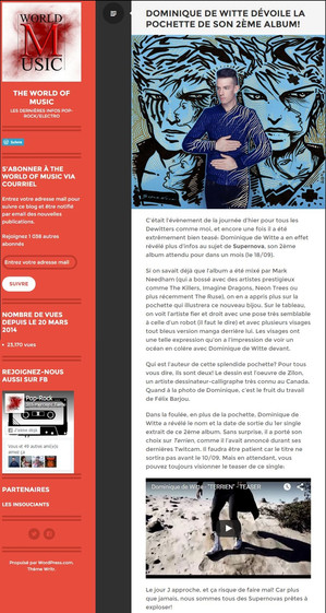 PRESSE - THE WORLD OF MUSIC - 19/08/15