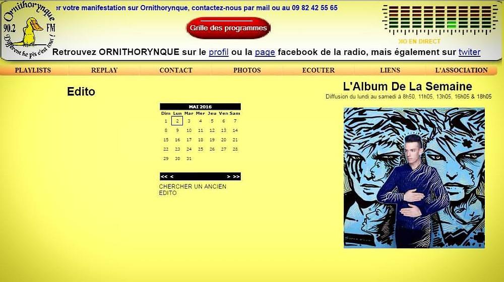 """""""SUPERNOVA"""" - Album de la semaine sur RADIO ORNITHORYNQUE 90.2 FM"""