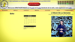 """SUPERNOVA"" - Album de la semaine sur RADIO ORNITHORYNQUE (90.2 FM en Sarthe)"